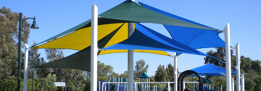 Colorful Shade Structure For Playground
