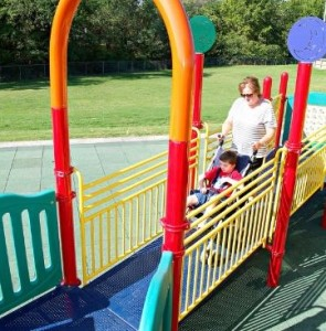 Wide Ramps for Inclusive Playground Equipment