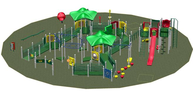 Inclusive, Accessible, Playground, Play equipment