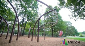 Gravity Rail from Miracle Recreation. Zipline fun for the playground!