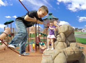 Rock and Rope Playground Equipment