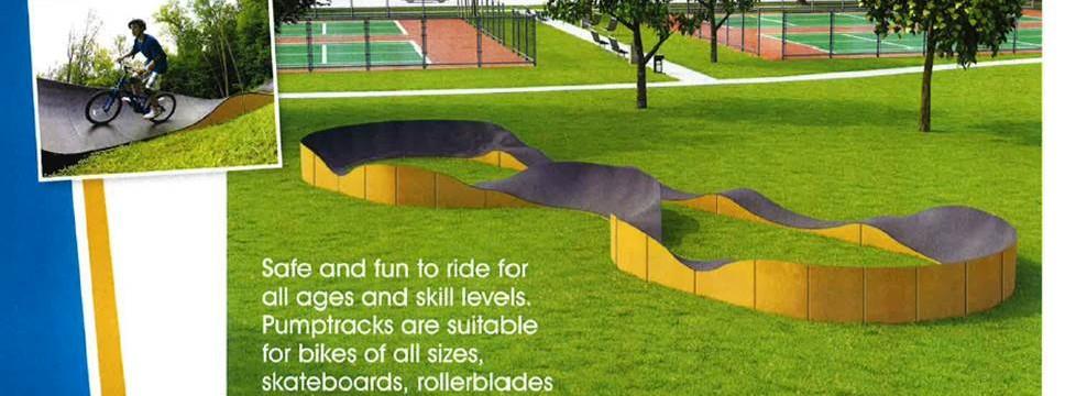 Pump Track for Skate Park