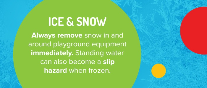 Remove Snow In And Around Playground Equipment