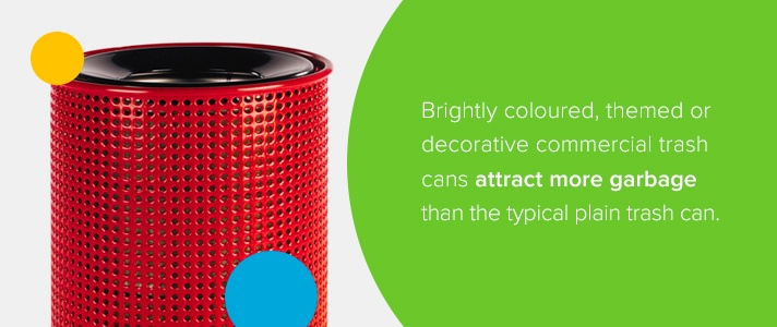 Brightly Colored Trash Cans
