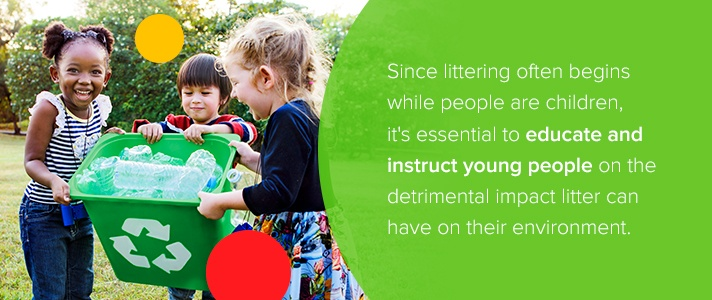 Educate Young People About Litter