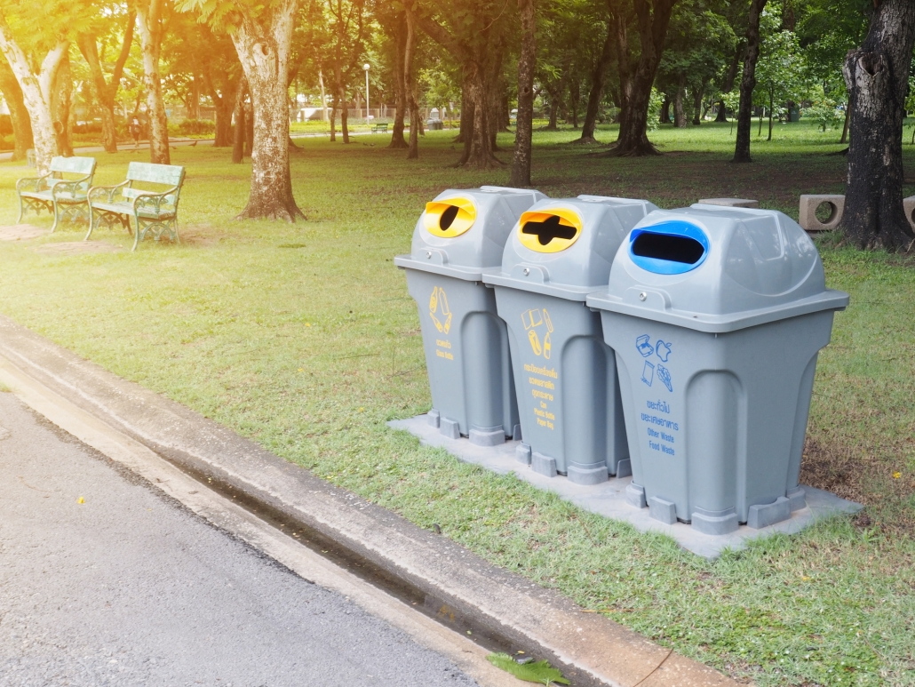 Colorful Commercial Trash Cans