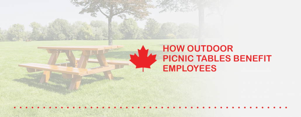How Outdoor Picnic Tables Benefit Employees