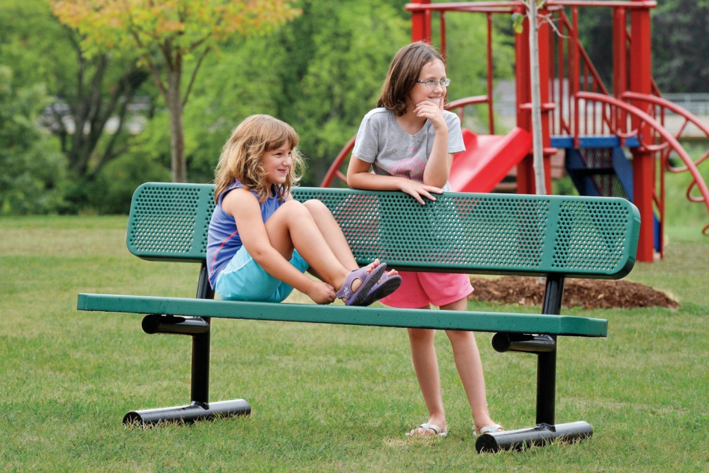 Outdoor Playground Bench