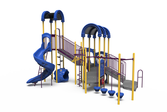 Little Tikes Commercial playground structure with spiral slide