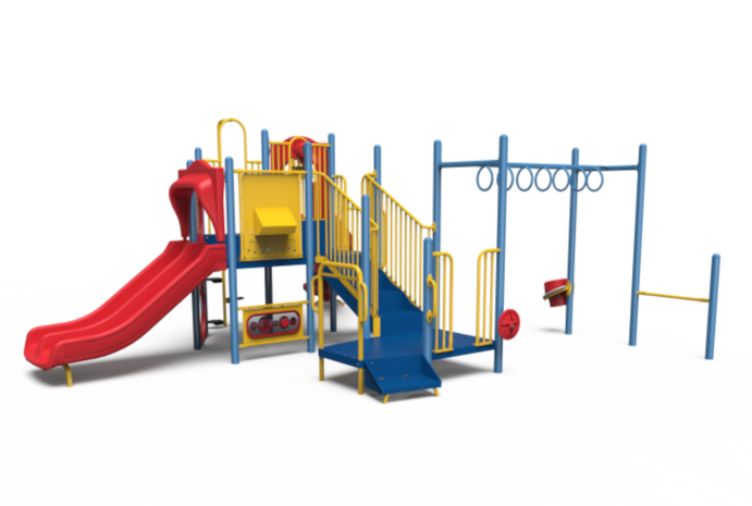 Little Tikes Commercial playground structure in primary colors